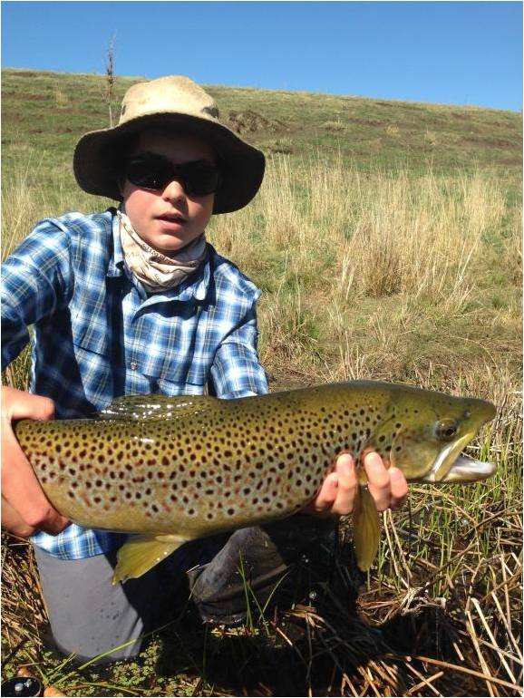 401 Kel with large brown trout