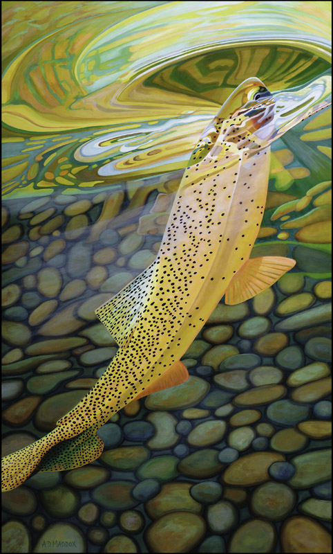 Ad maddox 39 s fly fishing art tomsutcliffe the spirit of for Fly fishing art
